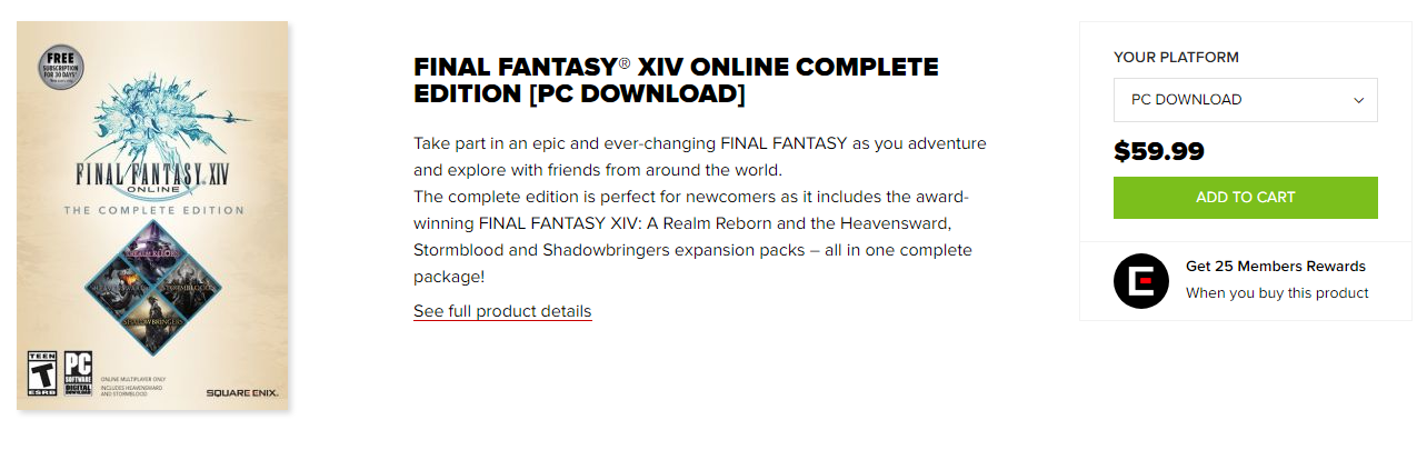 Final Fantasy XIV Digital