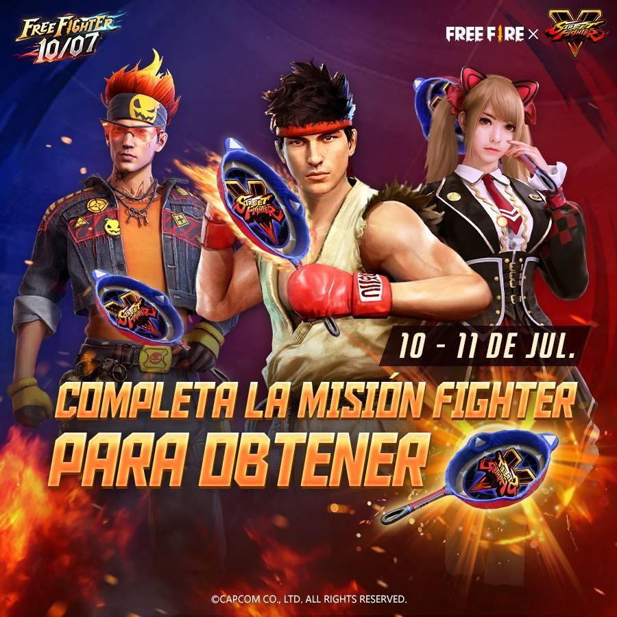 La colaboración entre Free Fire y Street Fighter V llegará a su fin este 10 de Julio 4
