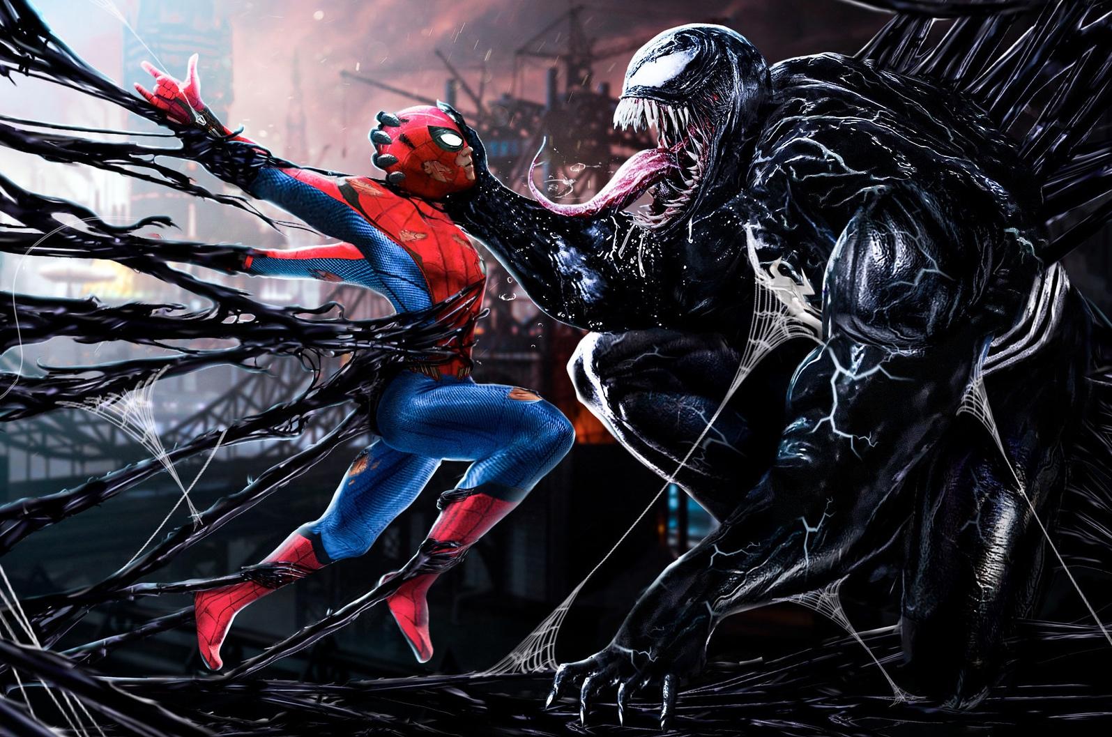 Tom Hardy, Tom Holland, Venom, Spider-Man