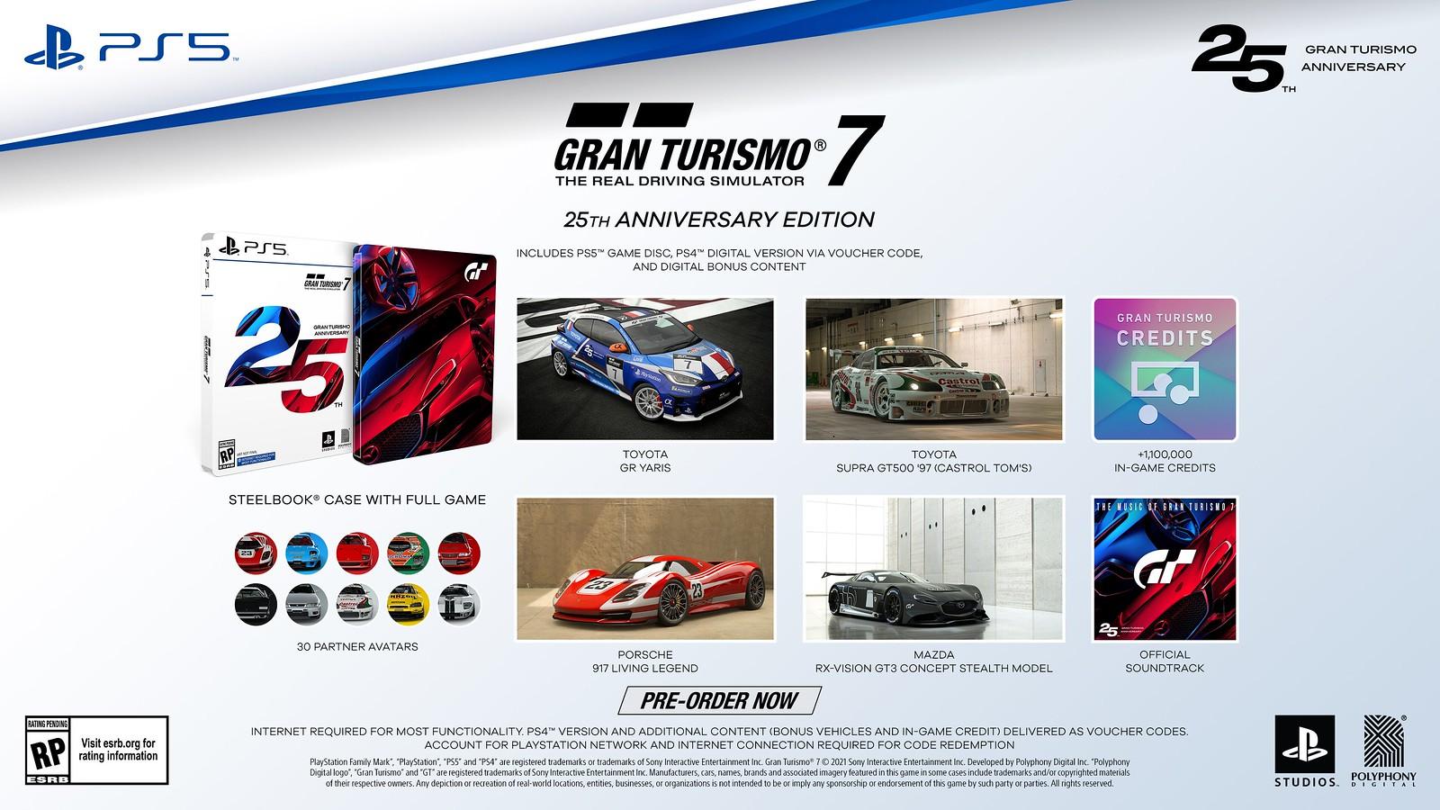 Gran Turismo 7 muestra su edición de 25 aniversario 1