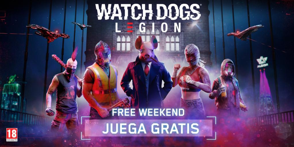 Juega gratis Watch Dogs: Legion del 3 al 5 de Septiembre